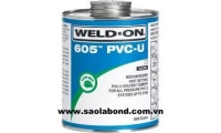 Keo dán mica WELD ON PVC 605